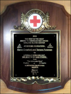 Apheresis Hero Honors Red Cross Workers